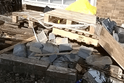 Household rubble clearance